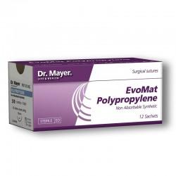 EvoMat Polypropylene 12 fire sutura polipropilen 5/0 cu ac 18cm