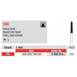 Freze Diamant Con cu Margini Rotunjite FG 850 - 5 buc.