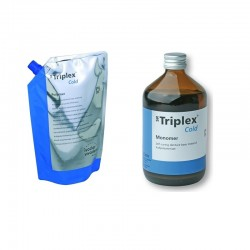 Triplex Cold Polymer Pink-V 500mg + Triplex Cold Monomer 500ml Ivoclar Vivadent