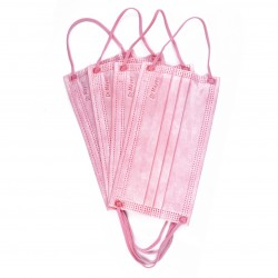 Masca Medicala 4 Straturi Full Color Light Pink Dr. Mayer 50 bucati